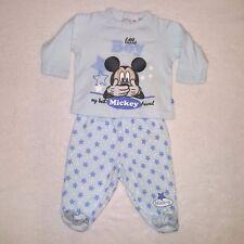 DISNEY BABY pyjama 2 pièces coton MICKEY MOUSE bleu taille 6 mois NEUF