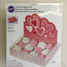 NEW, Wilton Cupcake 12-Cavity Cupcake Bakery Box, Hearts, 1-Pack