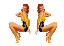 Set of 2 Remote Control (RC11) Pin Up Girl RC Airplane Sticker Decal
