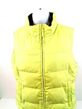 Athletic Works Womens Yellow Full Zip Puffer Vest Size S (4-6)