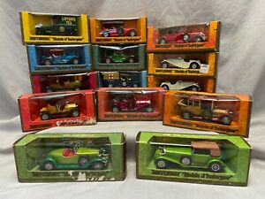 """Matchbox """"Models Of Yesteryear"""" Collection Of 14 Models in Boxes"""