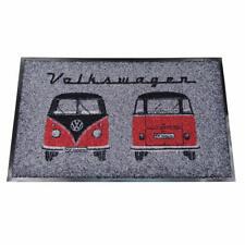 Oficial VW Caravana DELANTERO Felpudo/Alfombrilla - Negro + ROJO