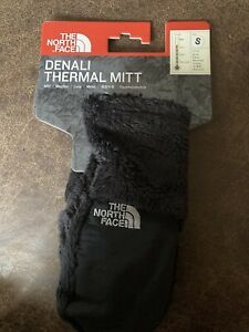 NWT Girls The North Face Denali Thermal Black Mittens Gloves Size S Small