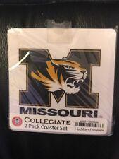 New Unopened University Of Missouri Tigers 2 Pack Coaster Set
