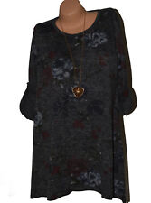 Italy Pullover Sweater Tunic Blouse Shirt Long Floral Oversize ( Nº 059)