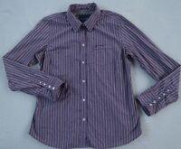 American Eagle Women's Favorite L/S Button Down Purple Striped Dress Shirt - 14
