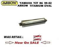YAMAHA YZF R6 1999 99 2002 02 Exhaust Full system Arrow TITANIUM oval Silencer