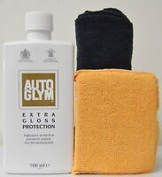 Autoglym Extra Gloss Protection 500ML - Auto Car Body Detail +Applicator & Towel