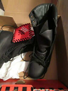 Black Diamond Mens HIGH TOP NFPA BOOTS BLACK LEATHER MENS 7W WIDE