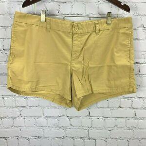 Gap Hadley Shorts size 16 Women Mustard Flat Front Chino Twill