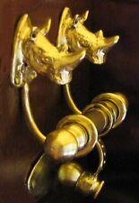 Rhino, Rhinoceros Bronze Duet Door Knocker