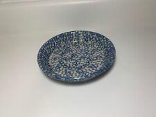 """The Workshops Gerald E Henn Roseville Pottery Blue Spongeware Bowl 7"""""""