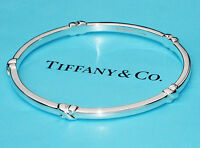 Tiffany & Co Signature KISS Sterling Silver Size Medium Bangle Bracelet