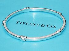 Tiffany & Co Plata De Ley Firma BESO Pulsera Talla M