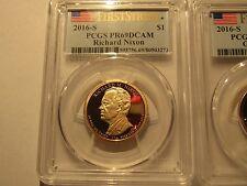 Set Of 3 US 2016-S Presidential Dollars PCGS Cert First Strike PR69 DCAM.