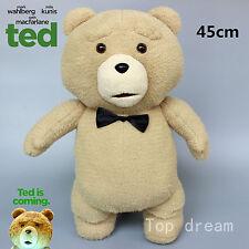 NEW Ted Bear Plush Toys Soft Stuffed Doll Cuddly Teddy Bears Kids Gift 45cm RARE