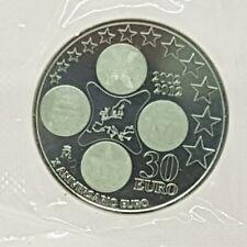 ESPAÑA 30 EURO 2012 PLATA - X ANIVERSARIO DEL EURO