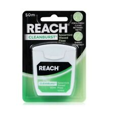 Reach Cleanburst Spearmint Waxed Dental Floss 50m