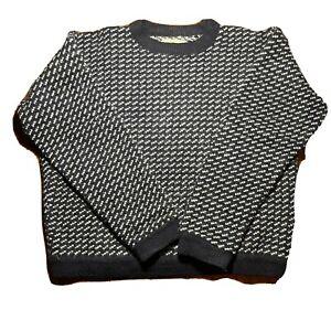Vintage 80s 90s LL Bean Norwegian Fisherman Birdseye Sweater Norway Mens Size XL