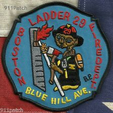BOSTON, MA - Ladder 29 Blue Hill Ave. FIREFIGHTER Patch FIRE DEPT.
