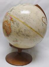 Vintage REPLOGLE 12 Inch Diameter Globe WORLD CLASSIC Series w/ Metal Base USSR