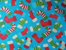 WtW Fabric Christmas Holiday Stocking Dot Retro Mod BTY Novelty  Quilt
