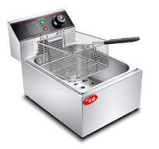 6L Single Cylinder Electric Deep Fryer Frying Oven For Potato Chicken 220V H