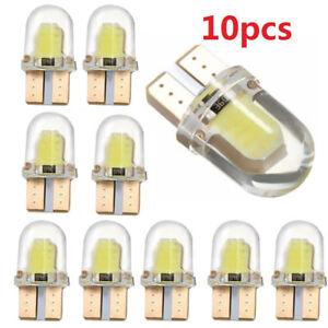 10x LED T10 194 168 W5W 8SMD CANBUS Silica Bright White License Light Bulb White