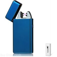 Double Arc Cigarette Lighter USB Rechargeable Windproof Electronic Pulse Blue