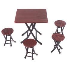 1:12 Mini Casa De Muñecas Muebles Silla Plegable Mesa y set con 4 Modelos Taburete. Dr