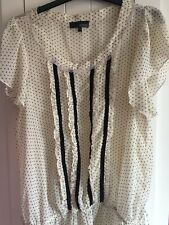ASOS size 14 Blouse Black & Cream