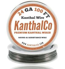 Kanthal 24 Gauge AWG A1 Wire 100ft Roll .51mm , 2.04 Ohms/ft Resistance