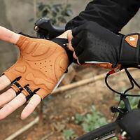 Montagne Vélo Gants pour Hommes Femmes Respirant Demi Doigt Gants de Vélo Vtt