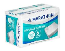 6 Pk Marathon Beverage Napkin 1/4 Fold 3,000 Napkins Affordable Price White