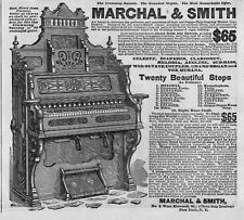 PUMP ORGAN 1881 ADVERTISEMENT MARCHAL & SMITH THE GRANDEST ORGAN FACTORY DIRECT
