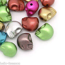 100 Hello New Acrylic Spacer Beads Skull Shape Mixed 13mmx11mm
