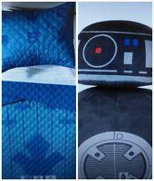 Star Wars Blue Quilt Set (Twin/Full) & Black Throw Pillow - 3PC