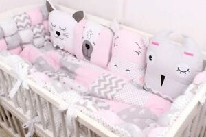 Bettumrandung Kantenschutz Kissen-Nestchen Gitterbettschutz Baby Kopfschutz