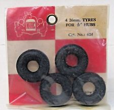 "MRRC #624 set of FOUR 26mm slot car tires for 9/16"" hub MINT in package"