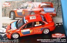 MITSUBISHI LANCER WRC RALLYE MONTE CARLO 2007 GARDEMEISTER IXO 1/43 HONKANEN