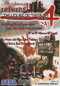 2005 SEGA THE HOUSE OF THE DEAD 4 EU VIDEO FLYER