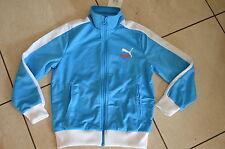 Puma neue Jacke Fußball Größe 128 cm  blau/weiß  Wunschflock möglich