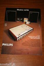 AS18=1972= PHILIPS REGISTRATORE STEREOFONICO=PUBBLICITA'=ADVERTISING=WERBUNG=