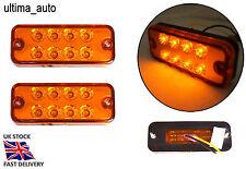 2 piezas 12v 8 LEDS PARTE DELANTERA TRASERO Ámbar Naranja Luces de marcaje