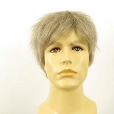 Perruque homme 100% cheveux naturel blanc et gris ref THOMAS 51