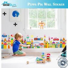 Wall Stickers Removable Peppa Pig Kids Nursery Decal Room Gift Cartoon D