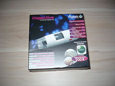 INSPECTIVE MICROSCOPIO DIGITALE USB 4GEEK 200X CON SUPPORTO DA TAVOLO OTTIMO