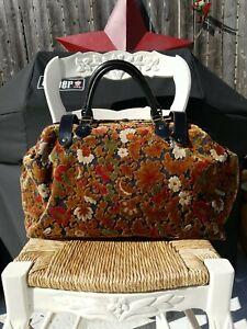 Vintage Carpet Bag Large