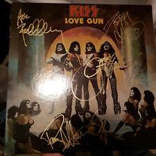 KISS signed vinyl album LOVE GUN GENE PETER PAUL ACE