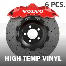 6 pcs Volvo Premium Brake Caliper Stickers decals S60 S40 S80 V50 V70 XC60 XC70